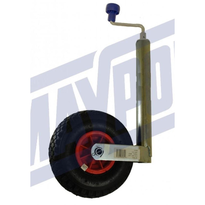48mm Pneumatic Jockey Wheel & Clamp