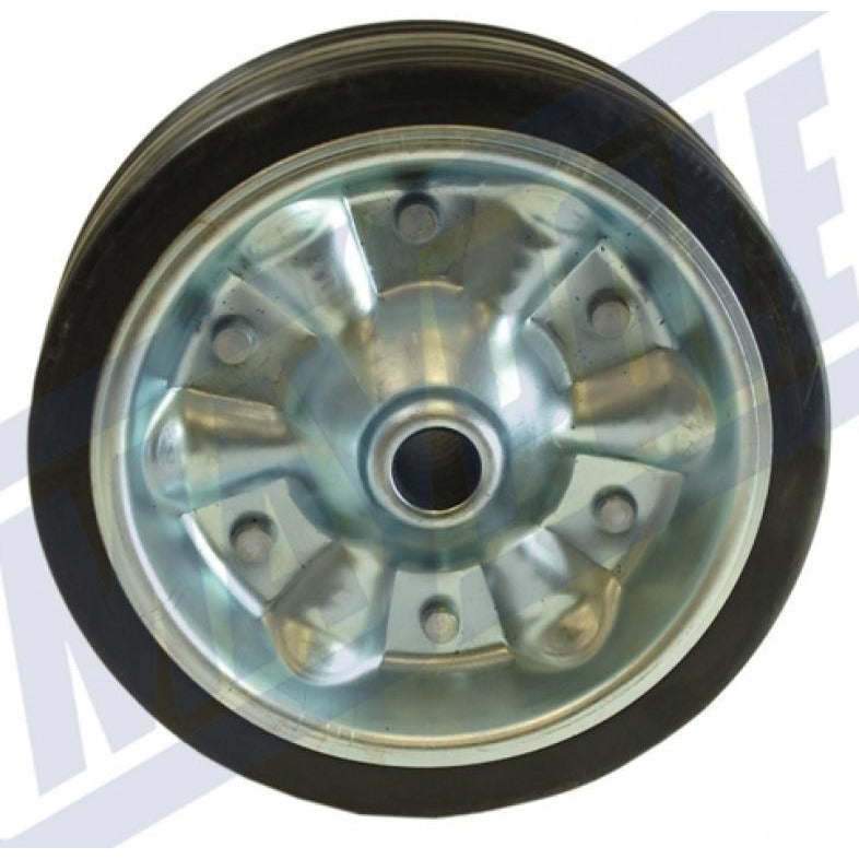 200mm Steel/Rubber Wheel