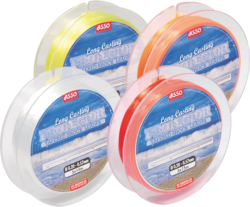 Asso Tapered Leader - 18-70lb - Clear (5 x 15m)