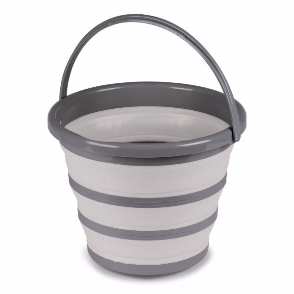 Kampa 10L Collapsible Bucket - Grey