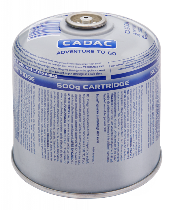 Cadac EN417 Threaded 500g Gas Cartridge