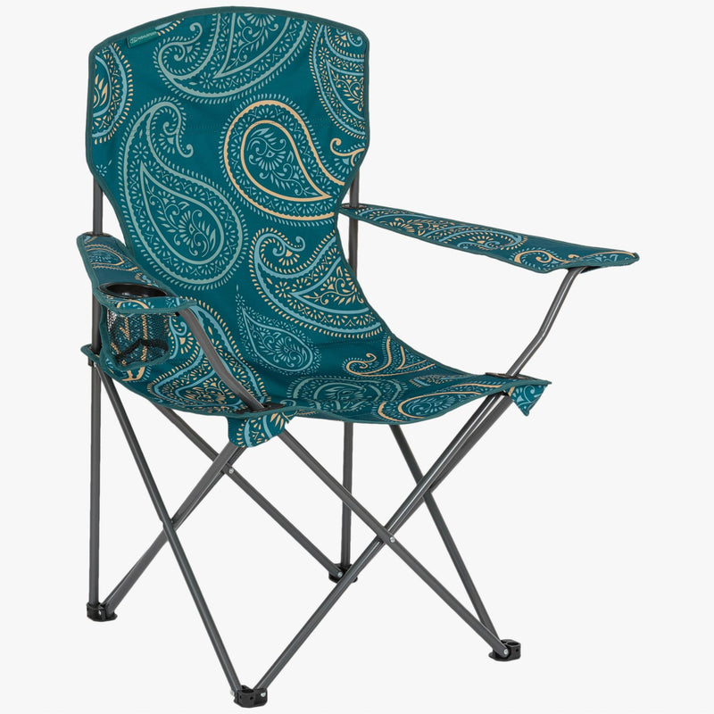 Highlander Stirling Camp Chair Paisley Teal - IN STORE ONLY