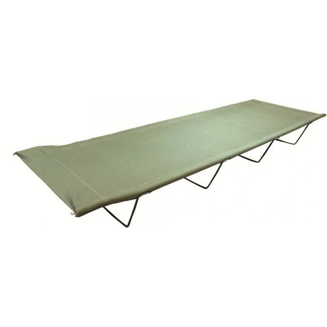 Highlander Olive Camp Bed