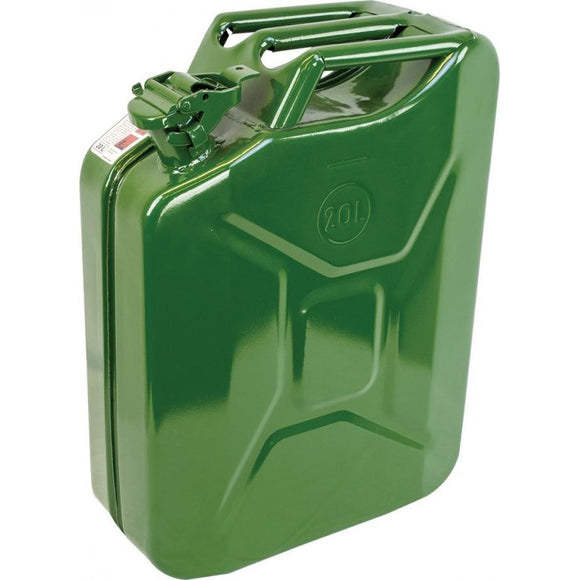 Highlander Steel Jerry Can 20L - Olive Green