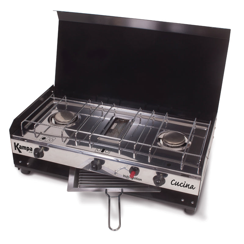 Kampa Cucina Double Burner Cooker Stove with Grill