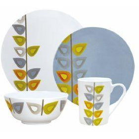 Flamefield Leaf 16 pce Melamine Dinner Set