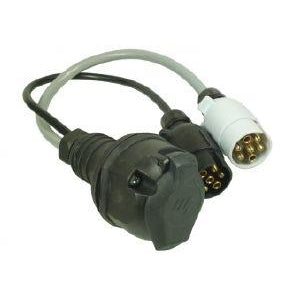Maypole 7 Pin Vehicle Electrics to 13 Pin Caravan Electrics Conversion Lead