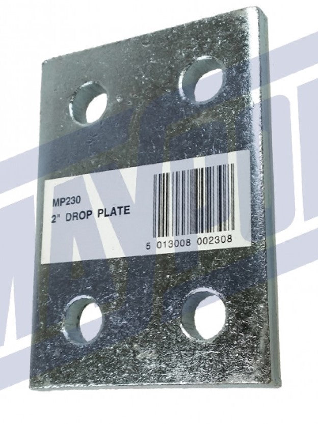 "Maypole Drop Plate Zinc Plated 2"" 52mm"
