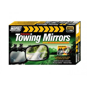 Maypole Pair of Extension Towing Caravan Mirrors - Convex