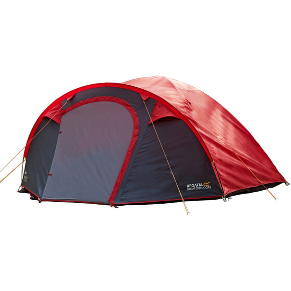 Regatta Kivu 4 Man Dome Tent - Pepper/Seal Grey