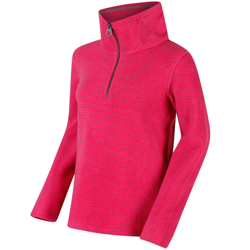 Regatta Solenne Half Zip Striped Fleece - Hot Pink