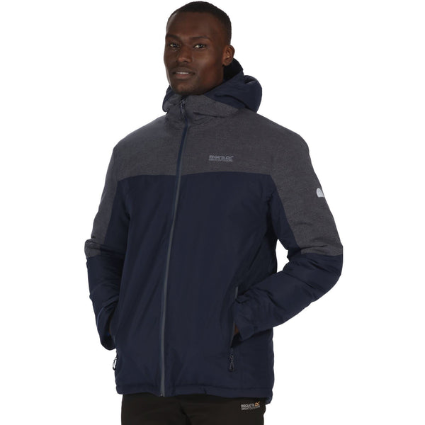 Regatta Garforth Mens Waterproof Insulated Jacket - Navy/Seal Grey