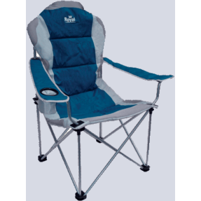 Royal President  Camping Folding Chair - Blue/Silver