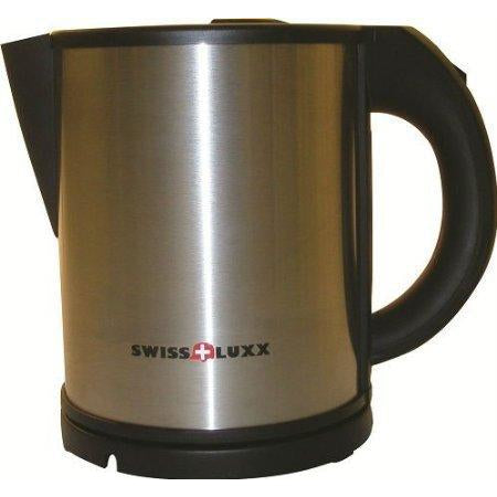 Swiss Luxx 1L Stainless Steel Low Wattage Cordless Kettle