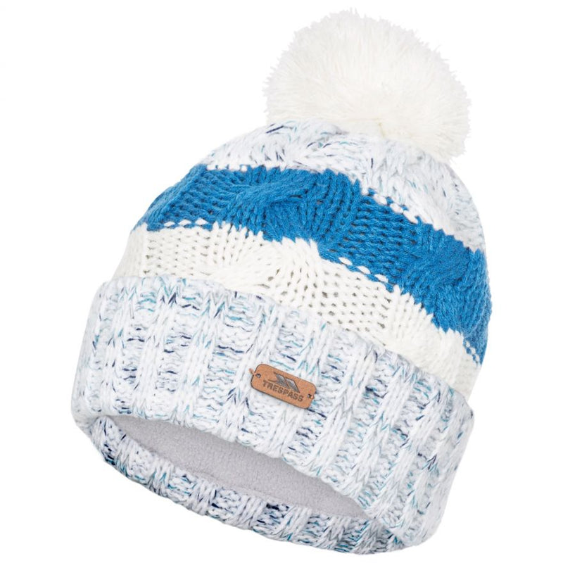 Trespass Zoya Bobble Hat - Ghost
