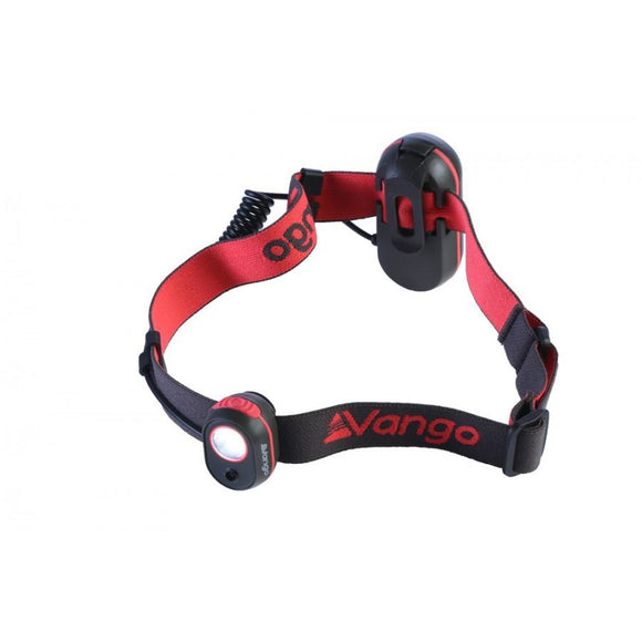 Vango Flux Head Torch - Grey/Red - 120 lumens