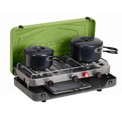 Vango Combi IR Cooker - Gas Double Burner with grill