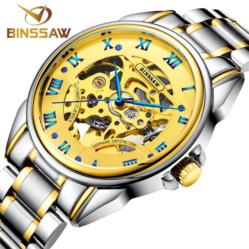 BINSSAW Men Watches 2018 New automatic Mechanical Watch