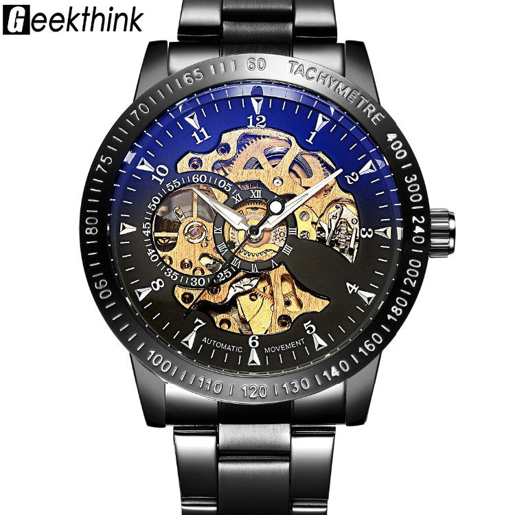 Mechanical Watch Men's Automatic Self wind Wristwatch Stainless Steel