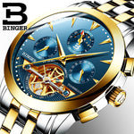 BINGER Automatic Mechanical  Stainless Steel Waterproof Watch