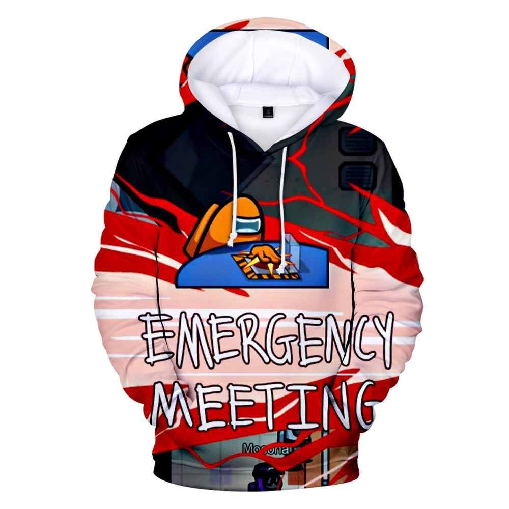 Among Us EMERGENCY MEETING Hoodie