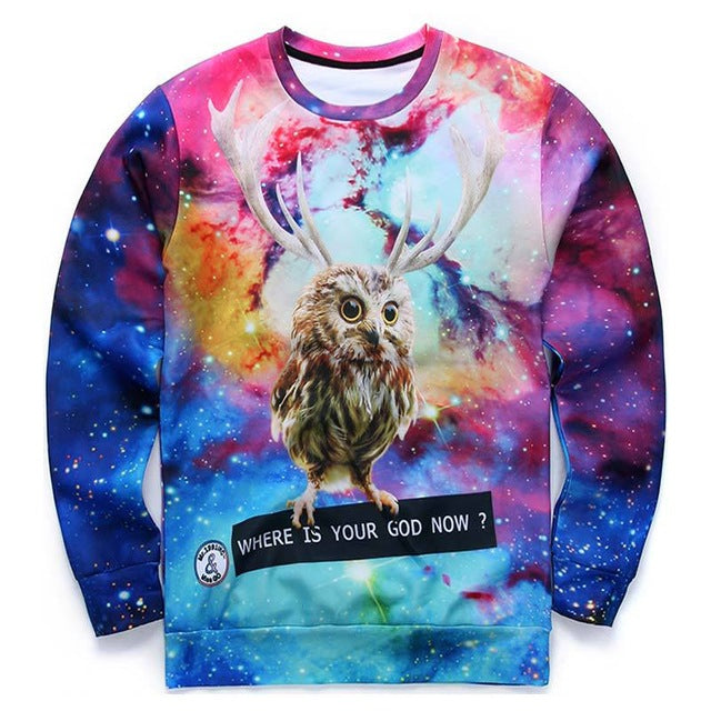 Space Howl WHERE IS YOUR GOD NOW Sweatshirt