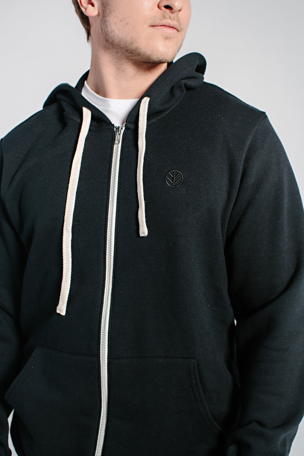 Embroidered Zip Hoodie - DOJA Cannabis