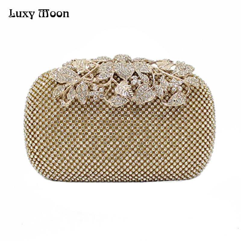 Luxury Diamond Gold Silver Clutch Peacock Bag for Party 00276149e0d4