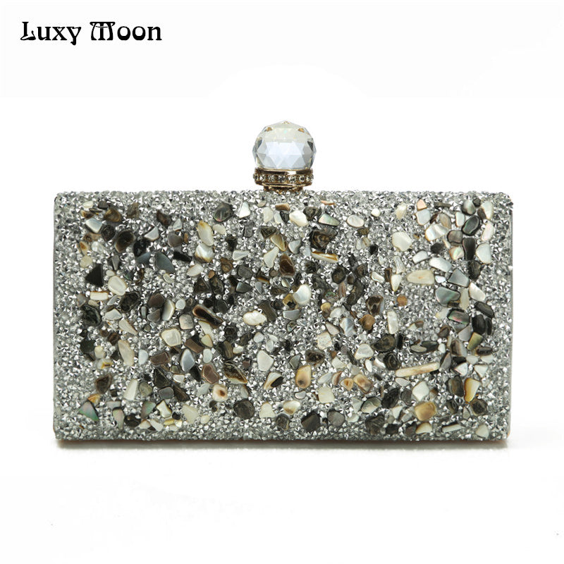 Luxury Moon Crystal Wedding Purse Beaded Clutches  40.97  62.59 ·  chilazexpress. Women Diamonds Evening Clutch Handbag 7557b08b5b42