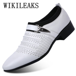 Men luxury oxford shoe with pointed toe