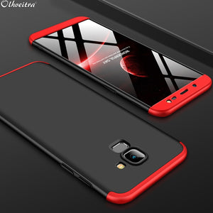 360 Degree Full Cover For Samsung J6 2018 Case 3 In 1 Hard PC Shell Protector Case For Samsung Galaxy J6 2018 Phone Accessories