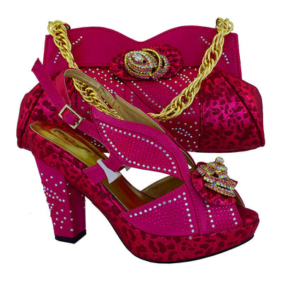 Italian Style African women Shoes and Bag Set