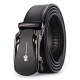 Belts For Men Genuine Leather Cowskin Black Belt Automatic Buckle