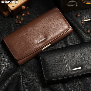 Belt Clip Holster Leather Pouch Case for iPhone X XS MAX XR Universal Mobile Phone Bag for iPhone 7 8 6 4s 5 Luxury accessories