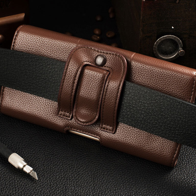 timeless design bfcbd 95997 Belt Clip Holster Leather Pouch Case for iPhone X XS MAX XR Universal  Mobile Phone Bag for iPhone 7 8 6 4s 5 Luxury accessories