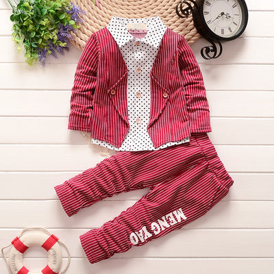 3a114b432 New Toddler s Gentleman Stripe Outfit Clothing Set