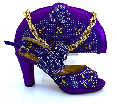 High Quality African Ladies Shoes and Bags Set