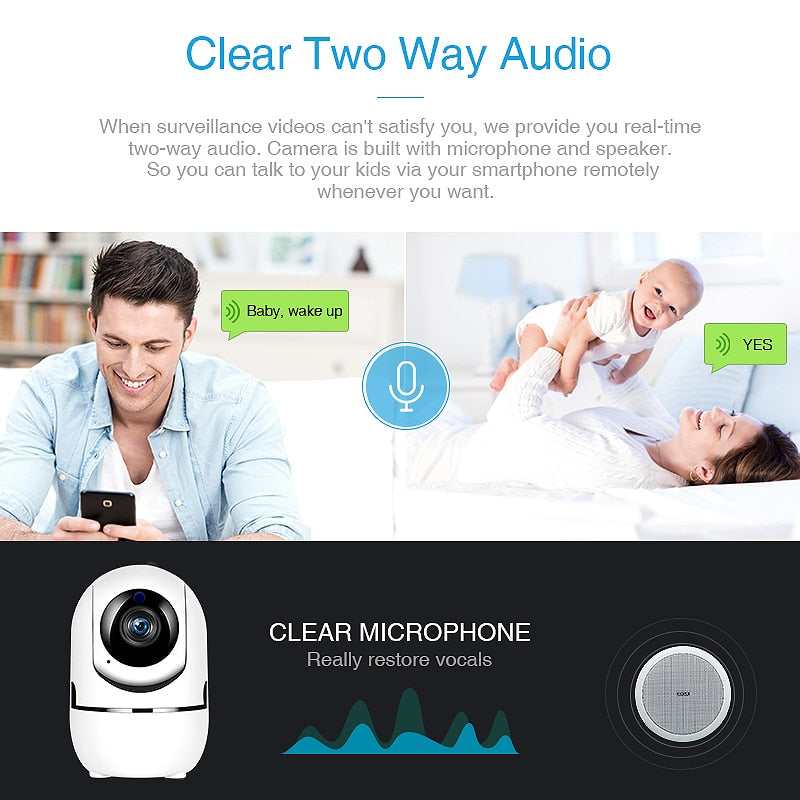 IP Camera Home Security Surveillance Camera Intelligent Auto Tracking