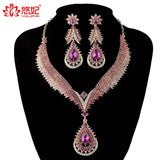 Crystal jewelry sets Bridal wedding Party necklace earrings