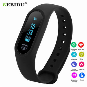 Smart Bluetooth Heart Rate Monitor Fitness Sleep Tracker