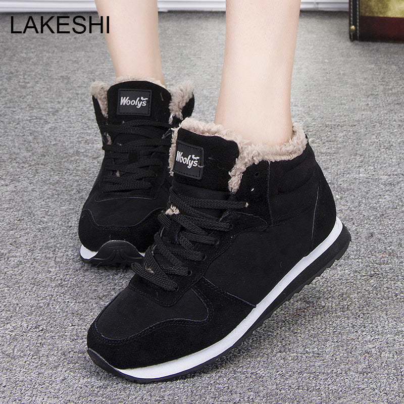 New Women Winter Fashion Warm Ankle Boot Shoes