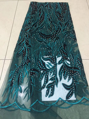 African Lace Fabric High Quality indian silk George lace fabric