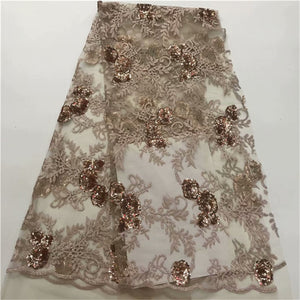 African Lace Fabric High Quality indian silk George lace fabric gold