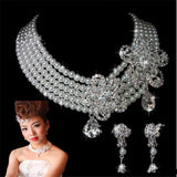 Bridal Necklace Jewelry Earring Wedding Jewelry Set For Bride Women