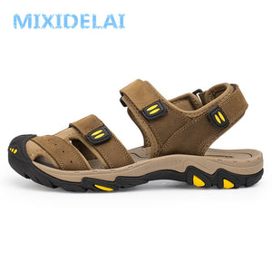 Summer Outdoor Beach Breathable Men Sandals Genuine Shoes
