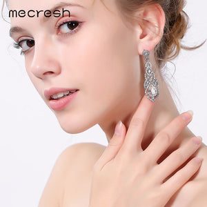 Crystal Wedding Earrings for Women Cute Silver Fashion Jewelry