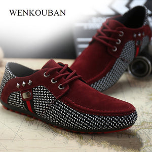 Men Flat Shoes Casual Male Loafers  Formal Shoes Lace Up Casual Shoes