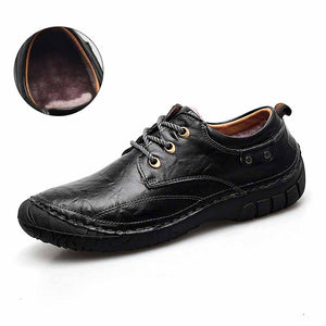 Men's Casual Shoes British Style Genuine Leather Flats Loafers Footwear