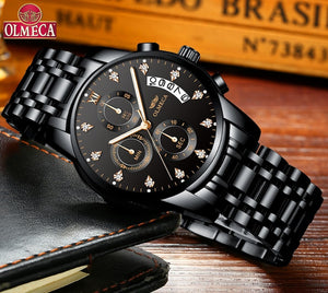Mens Watches Waterproof Watches Chronograph Wristwatch for Men