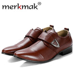 Oxfords Leather Men Shoes Fashion Casual Pointed Top Formal Shoes
